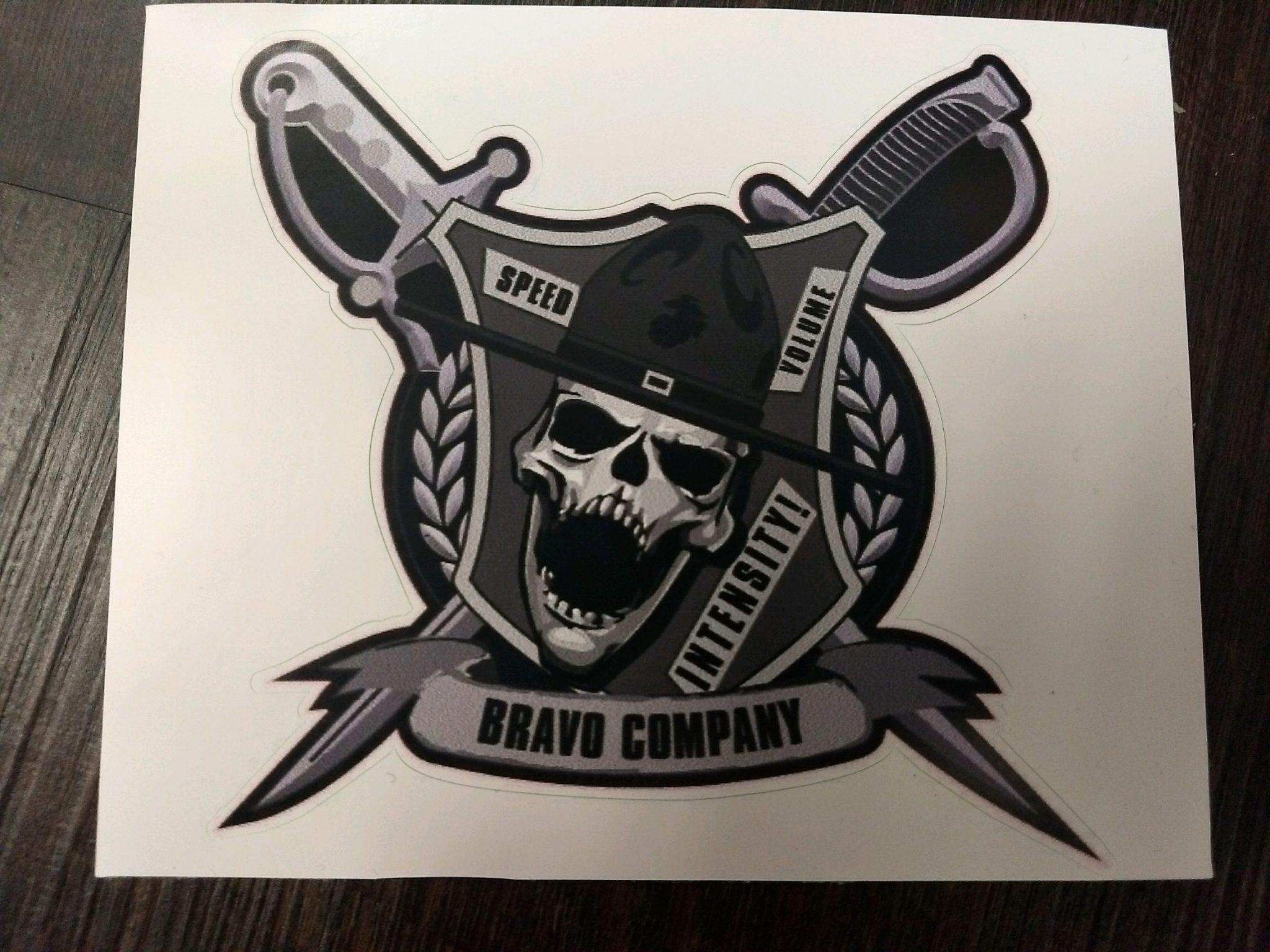 Bravo Company Decal Devil Dog Headquarter