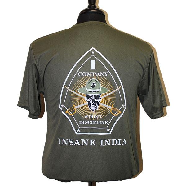 India Tshirt Back Wm Green